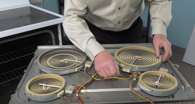 замена конфорки на электроплите