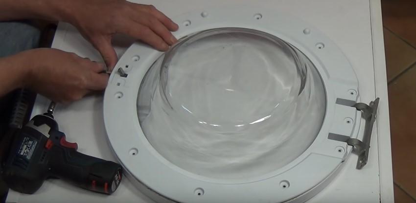замена дверцы в стиральной машине с установкой